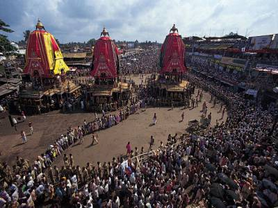 Load Jagannath, Balabhadra and the Goddess Subhadra