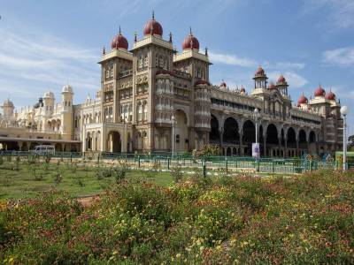 Mysore Palace back side view