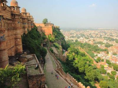 Gwalior Fort in Hill Top