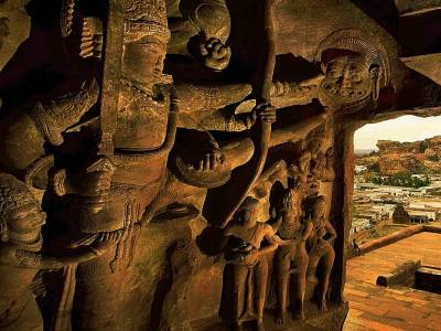 Badami Cave Temples Bagalkot