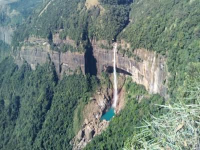 Nohkalikai Falls Meghalaya