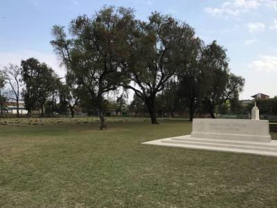 Indian Army war cemetery in Imphal