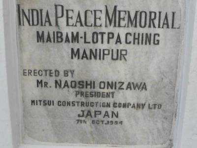 Japanese war memorial Manipur