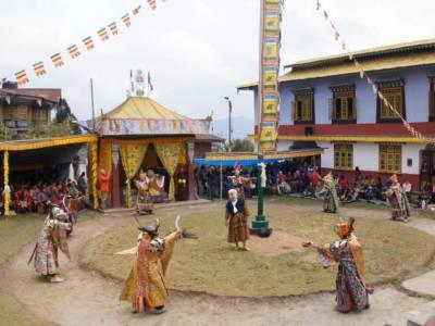Pemayangtse Gompa Monastery in Pelling Sikkim