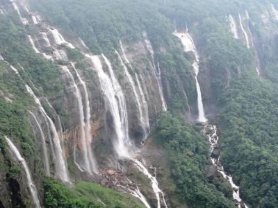 Seven Sisters Falls in Cherrapunji
