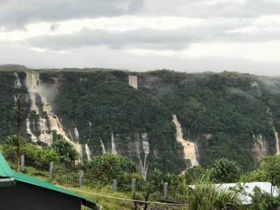 Seven Sisters Falls in Cherrapunji of Meghalaya