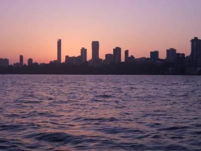 Marine Drive in Mumbai of Maharashtra, India