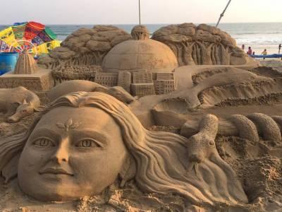 Konark Beach in Puri of Odisha