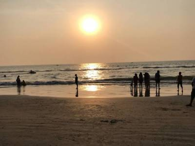 Varca Beach in Goa of India