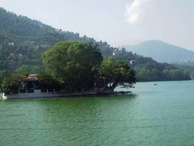 Bhimtal Lake in Nainital of Uttarakhand