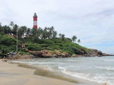 Lighthouse Beach in Kerala