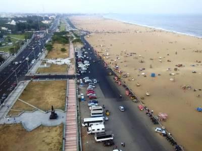 Marina Beach in Chennai