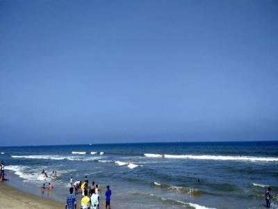 Marina Beach in Tamil Nadu