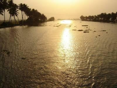 Vembanad Lake in Kottayam