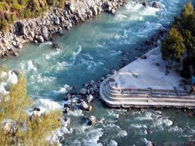 The confluence of Alaknanda & Nandakini river