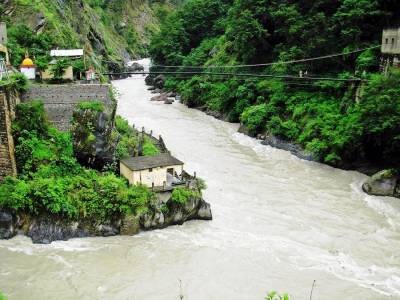 Vishnuprayag the confluence of Alaknanda & Dhauliganga river