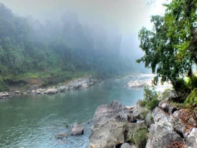 Barak Waterfall in Barak River in Manipur