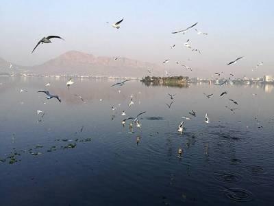 Ana Sagar Lake in Ajmer of Rajasthan