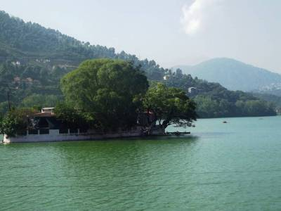 Bhimtal Lake in Nainital of Uttarakhand